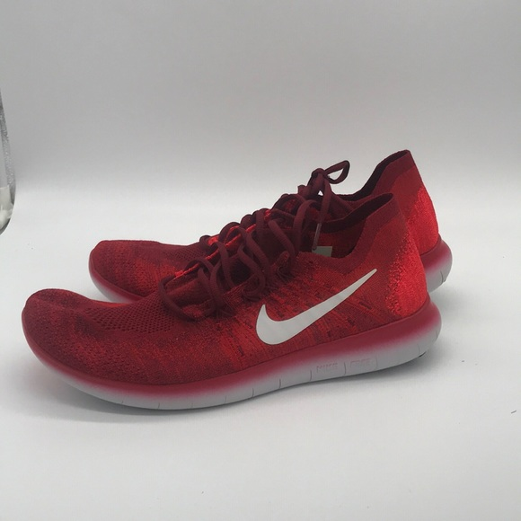 stable quality affordable price available Nike Free RN Flyknit Red Shoes Men's Size 12 NWT